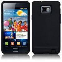 View Item Black Flexible Silicone Case For Use With Samsung Galaxy S II &amp; Galaxy S III